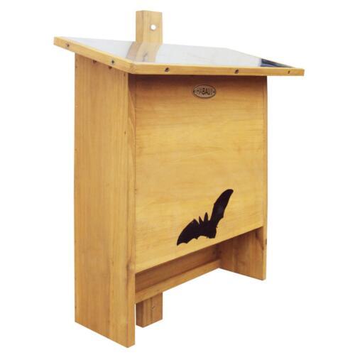 Habau 3017 Fledermauskasten Holz mit Zinkblech-Dach 29,5 x 15 x 46 cm