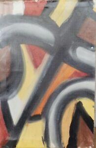 """ Composition Abstraite Collage 19 "" Huile / Acrylique / Lwd Atrribution"