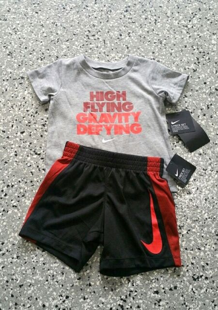 6fed9e2256 New Nike Kids Boys Graphic T-Shirt & Short Pants Outfit Set Size: 12