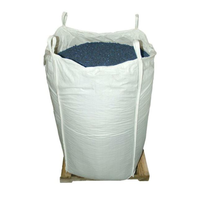 Blue Rubber Mulch Playground Shredded Bark Chips Artificial
