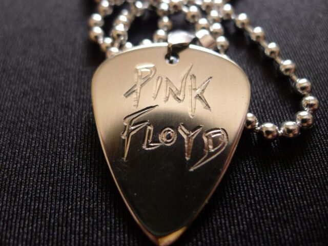 Pink Floyd Hand carving Stainless Steel Guitar Pick Necklace
