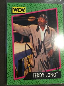 Teddy Long Autographed Signed 1991 Impel WCW #152 Trading Card WCW Wrestling