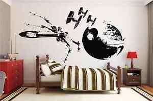 Star-Wars-Large-X-Wing-Tie-Fighter-Death-Star-Vinyl-Sticker-Wall-Art-Decal