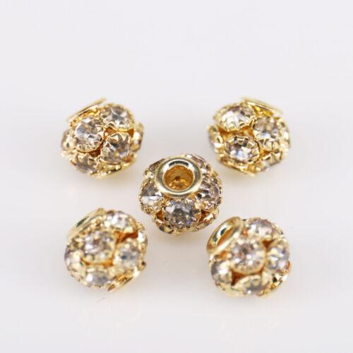 5//20//50 X Gemas Diamantes de Imitación de Cristal Rondelle espaciador granos flojos 7mm//10mm//12mm//14mm