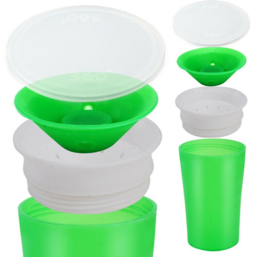 AM/_ LEAK-PROOF BABY KIDS TODDLER LEARNING DRINKING WATER CUP BOTTLE 2 HANDLE SUP