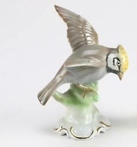 Vintage-Porcelain-Gerold-amp-Co-Tettau-5-3-8-034-Bird-Figurine-Bavaria-Germany