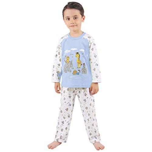 92 2 Jahre blau Pyjama Nachtwäsche Kinder Jungen Schlafanzug Gr 610