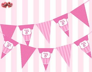 Perfect-Pink-5th-Happy-Birthday-Themed-Bunting-Banner-15-flags-by-PARTY-DECOR
