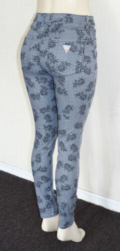 Femme Guess High Imprim 1981 Avec Moulant rise Pour Floral Jeans rUqUx5