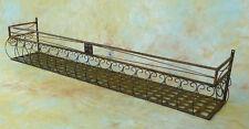 2x 140cm Wand-Blumenkasten Eisen Balkonkasten 0946427XL