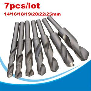 1-2-Tige-HSS-14-25mm-Foret-Fraise-Perceuse-Percage-Forage-Metal-Bois-Plastique