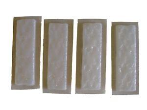 4 Texturé Brique Face Vernis Béton De Ciment Moule 6042 Moldcreations-afficher Le Titre D'origine Non Repassant