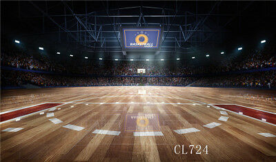 7x7FT Vinyl Photo Backdrops,Sports,Figure Playing Basketball Photo Background for Photo Booth Studio Props
