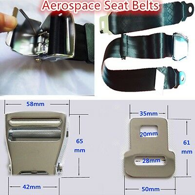 Safety Strap In Black Adjustable 2 Point Lap Seat Belt for Fiat 900 T//E Pulmino