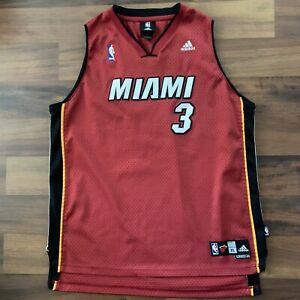 Details about Adidas Miami Heat Alternate Wade NBA Swingman Jersey Sz Youth XL 18-20