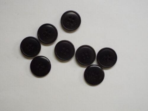 8pc 20 mm Tinta Negro Chaqueta Traje Pantalón Ropa tejida Chaqueta 4 agujero botón 1024
