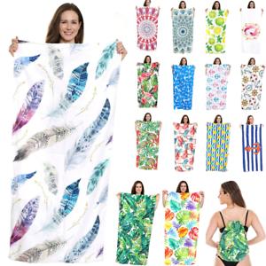 Boho Tropical Paradise Round Tassels Beach Towel Microfiber Picnic Blanket Yoga
