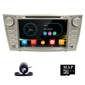 8 car dvd player gps navi system for toyota camry 2007 2011 free camera map ebay. Black Bedroom Furniture Sets. Home Design Ideas