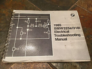 1985 BMW E30 325e 318i 325i Electrical Troubleshooting    Wiring       Diagram    Manual   eBay