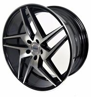 4 Gwg Wheels 20 Inch Staggered Black Razor Rims Fits 5x114.3 Ford Mustang 2005