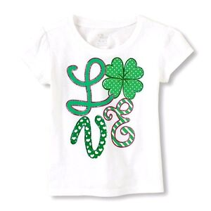 THE CHILDREN/'S PLACE BOY GIRL SHAMROCK IRISH T-SHIRT TOP S 5//6 ST PATRICK/'S DAY