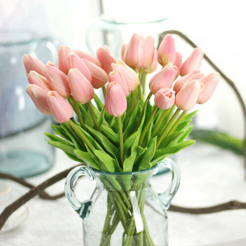 Artificial Tulip Fake Flower Real Touch For Home /& Party Decor BUY 2 GET 1 FREE
