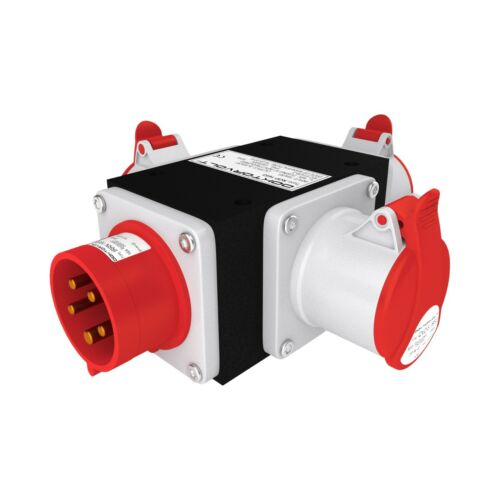 Doktorvolt® 3-way Power Splitter 3 Phase Power Extension Connector 16 32A