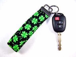 Shamrock Fabric Keychain