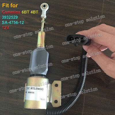 3932529 12V Fuel Shut Off Solenoid Valve SA-4756-12 12V for Cummins 6BT 4BT10