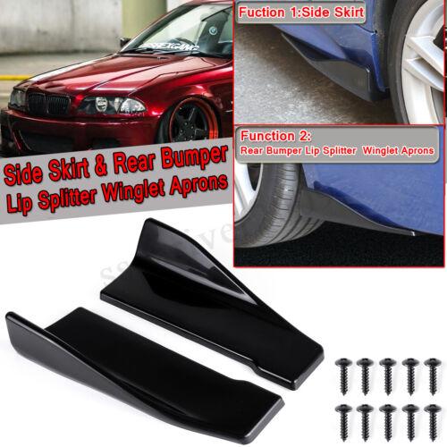 2pcs Universal Car Rear Bumper Lip Splitters Winglets Canards Side Skirt 35cm