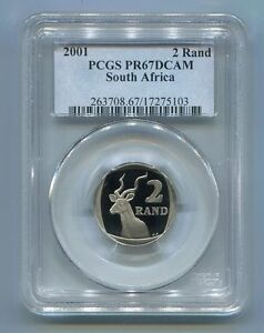 2001-R2-South-Africa-Pcgs-Graded-Proof-Pr-67-Deep-Cameo-Coin
