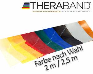 Original THERA-BAND Übungsband Fitnessband 2 m / 2,5 m in 8 Stärken / Farben NEU