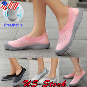 Women-Ladies-Sneakers-Casual-Walking-Flat-Shoes-Breathable-Comfy-Slip-On-Loafers