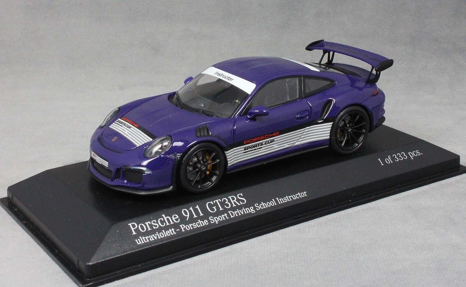 Minichamps Porsche 911 GT3RS PORSCHE sport école de conduite Ultraviolet 413063256