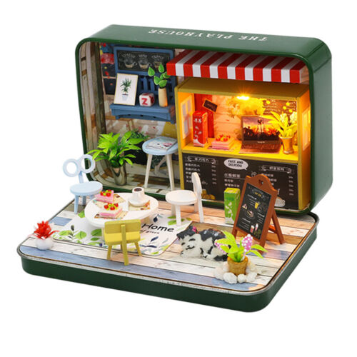 DIY 3D Box Summer Theatre Dollhouse Miniature Puzzle Kit Kids Toy Gifts