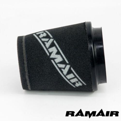 125mm TALL RAMAIR INDUCTION FOAM CONE AIR FILTER UNIVERSAL 90mm NECK