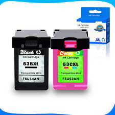 Compatible 2 Black+2 Color Ink fit 63XL 63-XL For HP ENVY 4520 All-in-One