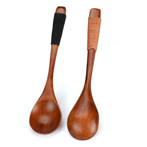 Wooden-Spoon-Bamboo-Kitchen-Cooking-Utensil-Tool-Soup-Teaspoon-Catering-Food-Kit