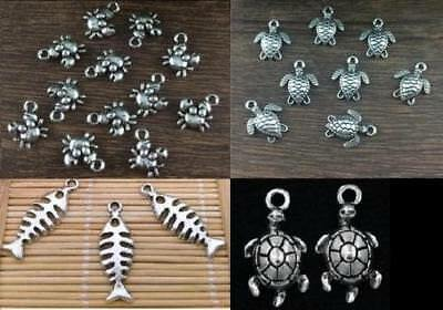 Swan Charms Lovebird charm jewelry findings supplies craft DIY silver metal