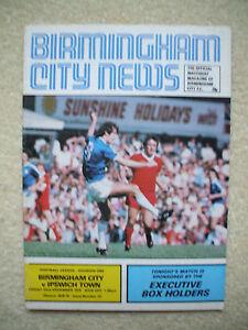 Birmingham City v Ipswich Town Football Programme 19781979 - IPSWICH, Suffolk, United Kingdom - Birmingham City v Ipswich Town Football Programme 19781979 - IPSWICH, Suffolk, United Kingdom