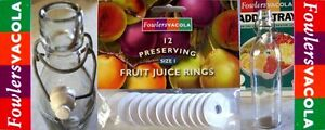 New FOWLERS VACOLA Fruit Juice Bottle Size1 RINGS/SEALS