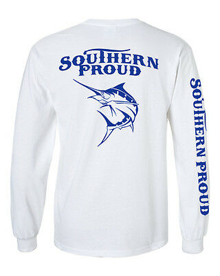 Southern proud long sleeve saltwater fishing t shirt deep sea ocean life marlin