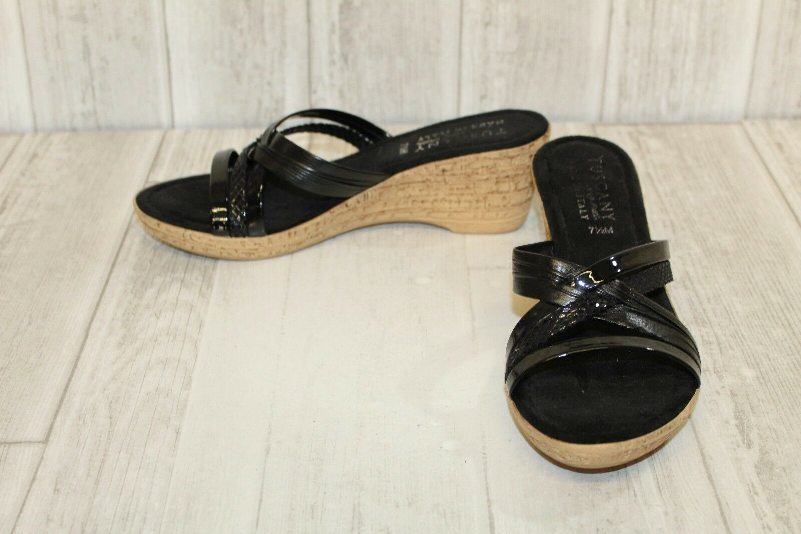 Easy Street Idro Size Wedge Sandals - Women's Size Idro 7.5 M - Black c7f4e5
