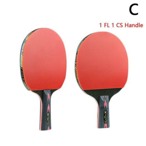 Table Tennis Racket Set 2Pcs Upgraded 5 Star Carbon Lightweight Ping Pong Set