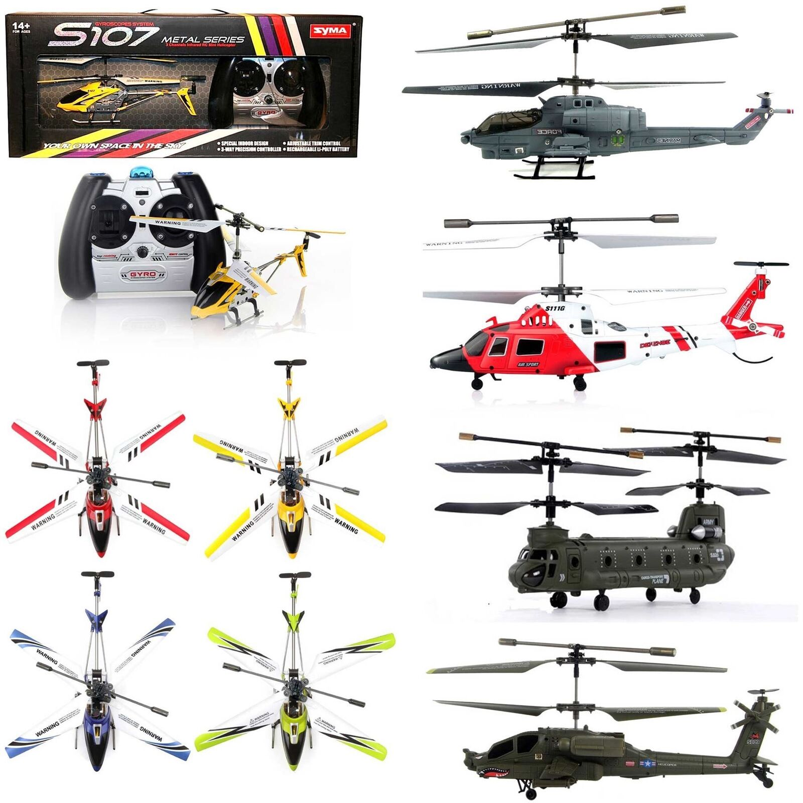 SYMA RC Remote Control Helicopter Drone Camera Christmas Birthday Gifts Toys