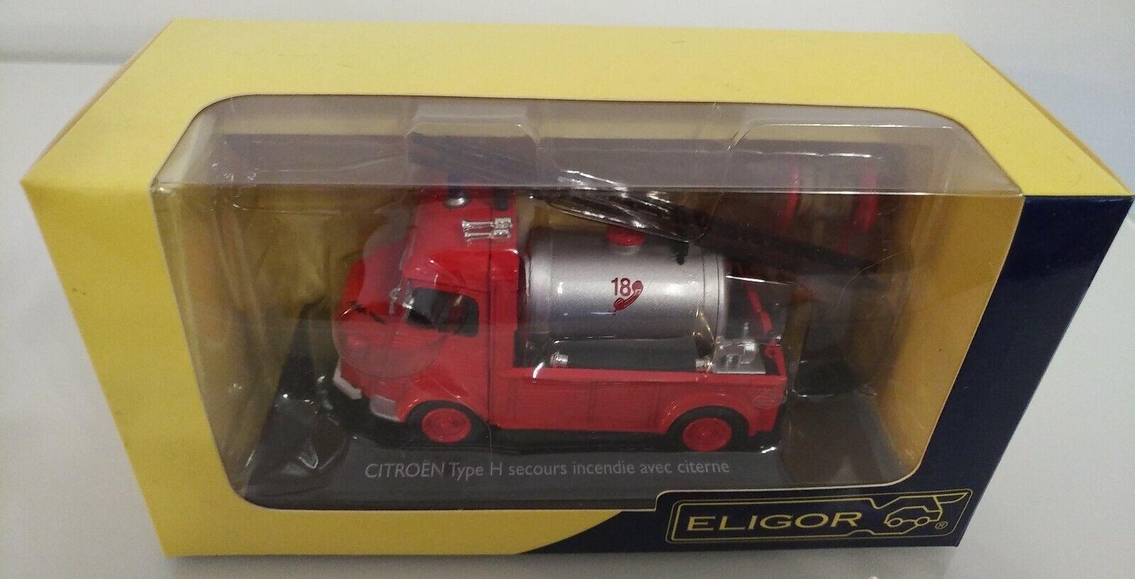 Citroen type h  hy fire firefighter fire rescue tank sappers eligor 1 43  vente de renommée mondiale en ligne