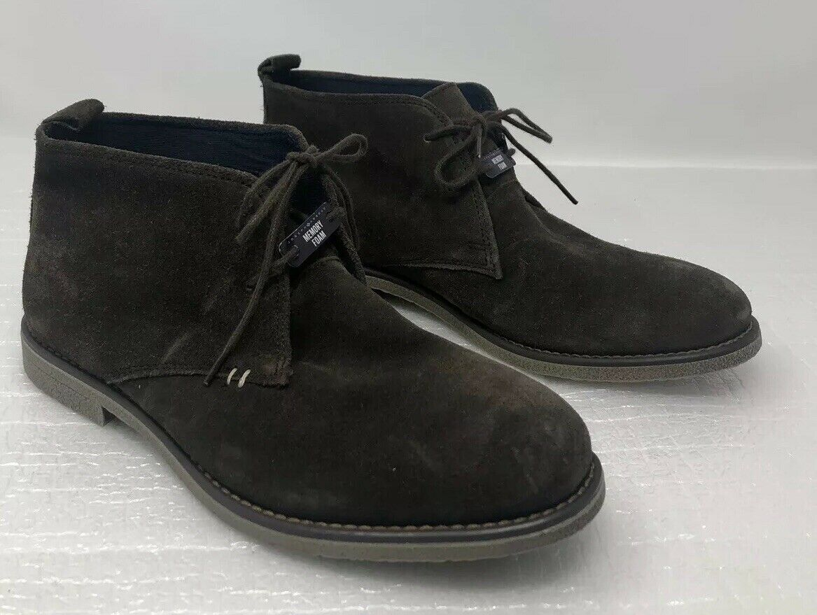 JOSEPH ABBOUD COLLECTION MENS ANKLE BOOTS BROWN SUEDE LEATHER UPPER SIZE 8.5