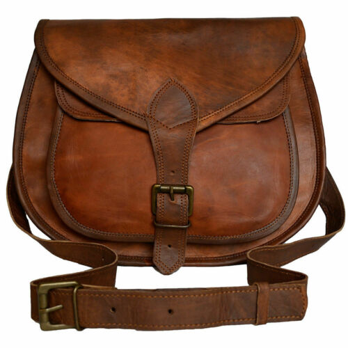 Hobo Purse Women Vintage Brown Leather Messenger Cross Body Bag Handmade