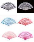 Fashion Chinese Wing Chun Style Dancing Fun Folding Lace Hand Fan Wholesale