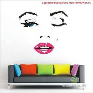 Image Is Loading Sexy Marilyn Monroe Wall Art Stickers Marilyn Monroe